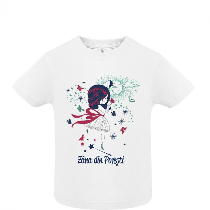 Tricou Zâna din Povești, copii, culoare albă 0