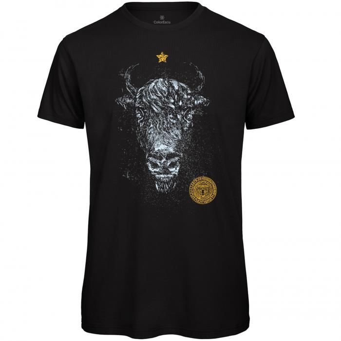 Tricou Zimbru de România, culoare neagră 0