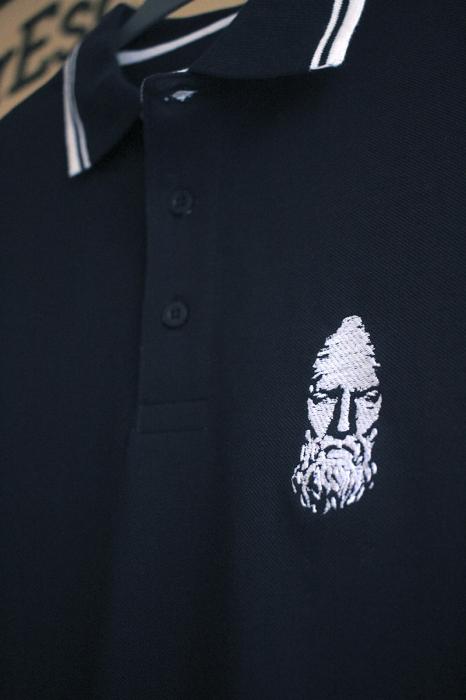 Tricou Decebal, brodat, culoare bleumarin 3