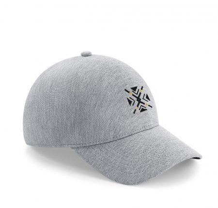 Șapcă ColorEscu, fără cusături, broderie. culoare gri [0]