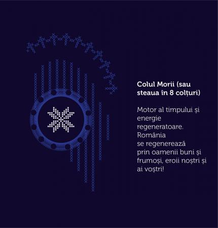Tricou Simbol România, bleumarin, bărbat1