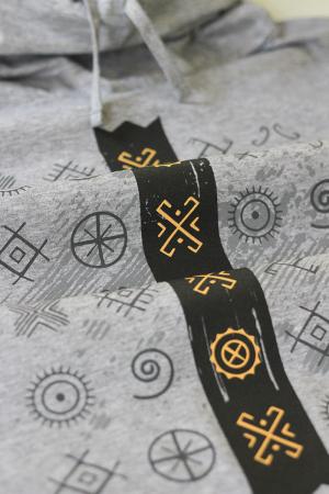 Tricou Cultul Soarelui, guler înalt, unisex, culoare gri1