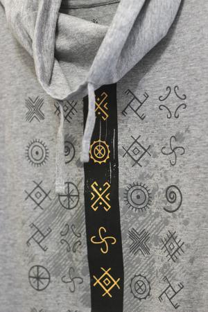 Tricou Cultul Soarelui, guler înalt, unisex, culoare gri2