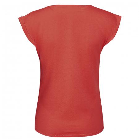 Tricou Floarea Vieții, damă, culoare corai2