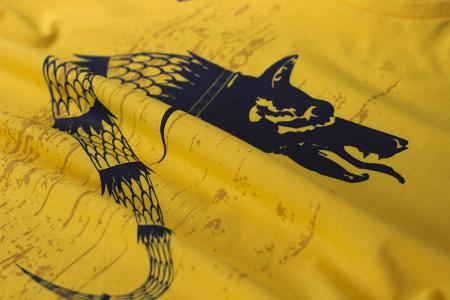 Tricou Lupul Dacic, galben, damă1
