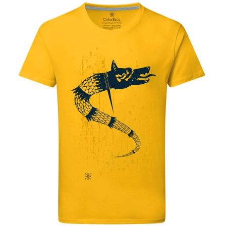 Tricou Lupul Dacic, galben, bărbat0