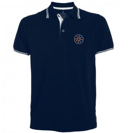 Tricou Simbol Cucuteni, broderie, culoare bleumarin0
