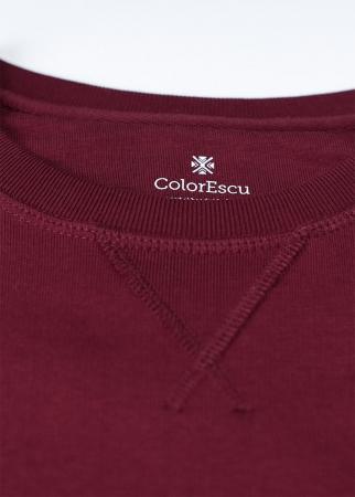 Bluză ColorEscu, broderie, culoare grena1