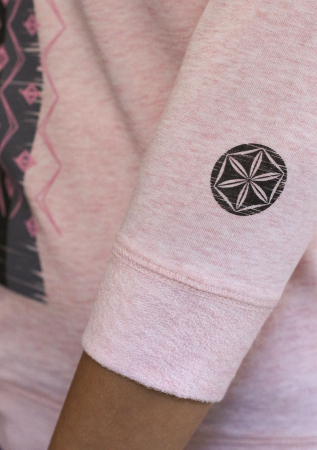 Bluză Infinitul, mânecă 3/4, culoare roz2