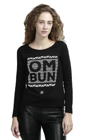Bluză Om Bun, damă, culoare neagră1