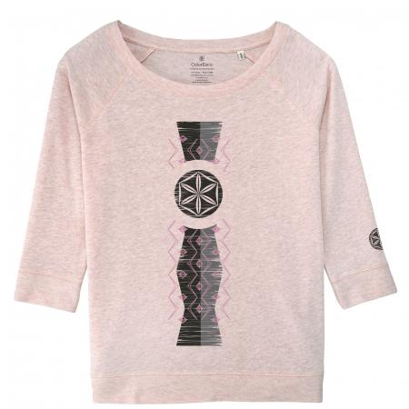 Bluză Infinitul, mânecă 3/4, culoare roz0