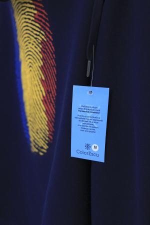 Hanorac Amprentă România, fermoar, bărbat, culoare bleumarin [2]