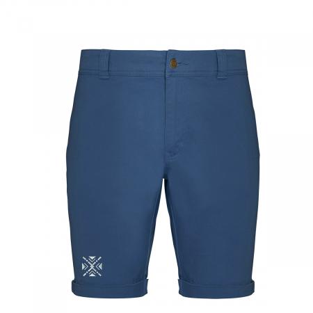 Pantaloni scurți ColorEscu, broderie, culoare albastră [0]