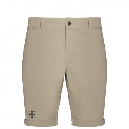 Pantaloni scurți casual ColorEscu, broderie, culoare bej [0]