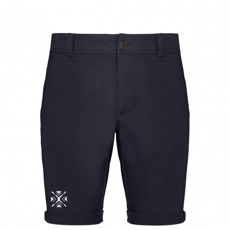 Pantaloni scurți casual ColorEscu, broderie, culoare bleumarin [0]