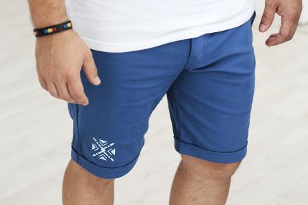 Pantaloni scurți ColorEscu, broderie, culoare albastră [1]