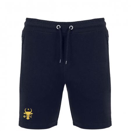 Pantaloni scurți Cap de Bour, broderie, culoare bleumarin [0]
