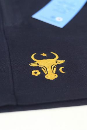 Pantaloni scurți Cap de Bour, broderie, culoare bleumarin [2]