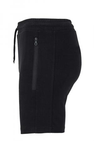 Pantaloni scurți Lupul Dacic, broderie, culoare neagră2