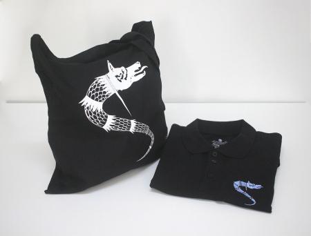 Traistă Lup Dacic, culoare neagră [2]