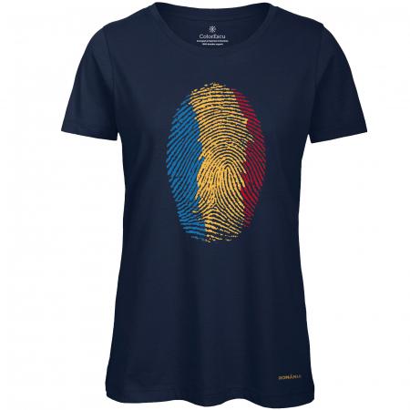 Tricou Amprentă România, damă, culoare bleumarin [0]