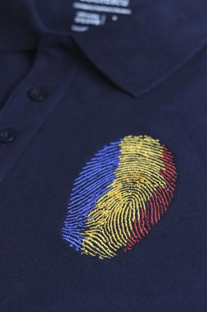 Tricou Amprentă România, brodat, bărbătesc1