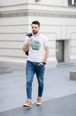 Tricou Ca să fie bine, bărbat, culoare albă [2]