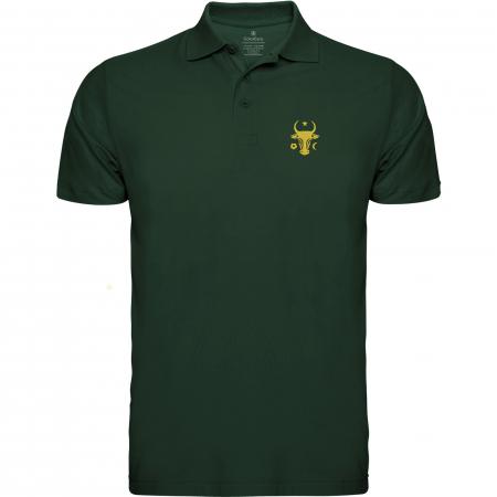 Tricou Cap de Bour, broderie, culoare verde0
