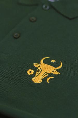 Tricou Cap de Bour, broderie, culoare verde1