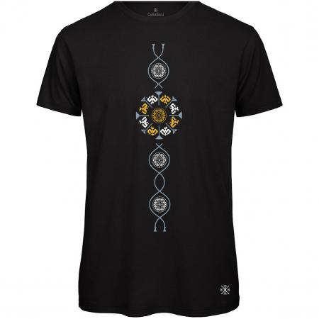Tricou Coloană Tradițională, bărbat, culoare neagră0