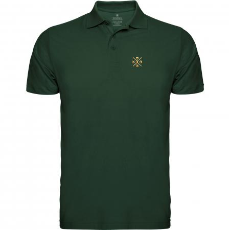 Tricou ColorEscu, broderie, culoare verde0