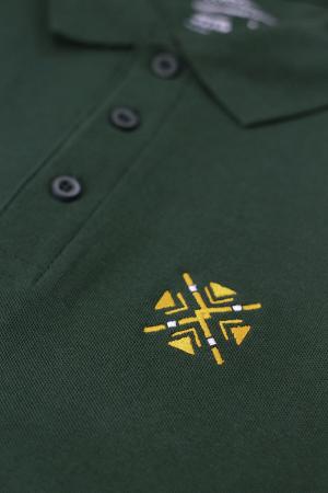 Tricou ColorEscu, broderie, culoare verde1