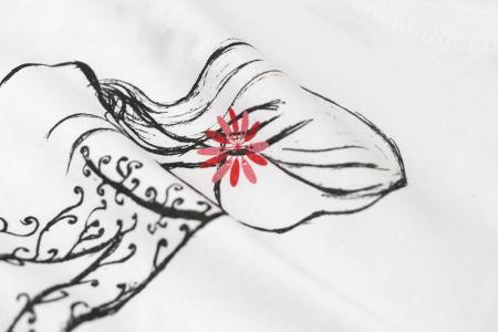 Tricou Cosânzeana, copii, culoare albă2