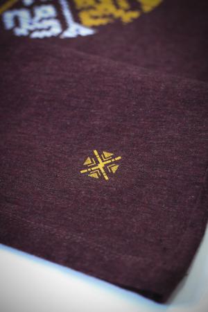 Tricou Floare Tradițională, culoare burgund2