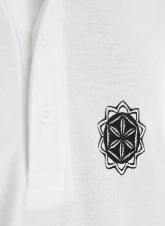 Tricou Floarea Vieții brodat - polo1
