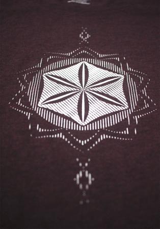 Tricou Floarea Vieții, damă, culoare burgund2