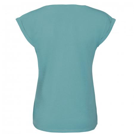 Tricou Floarea Vieții, damă, culoare turcoaz1