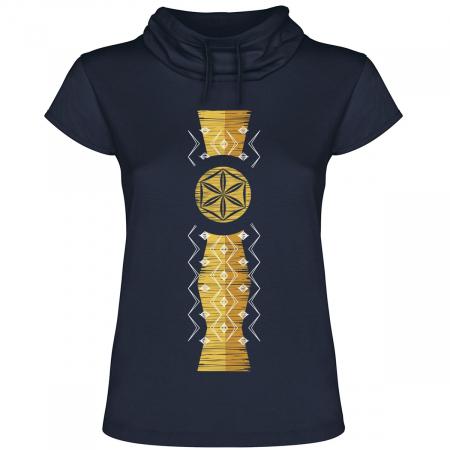 Tricou Infinitul, guler înalt, damă, culoare bleumarin0