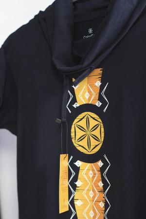 Tricou Infinitul, guler înalt, unisex, culoare bleumarin1