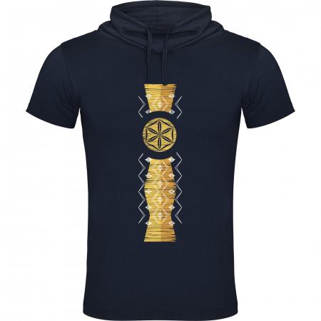 Tricou Infinitul, guler înalt, unisex, culoare bleumarin0