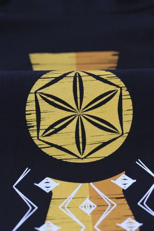Tricou Infinitul, guler înalt, unisex, culoare bleumarin2