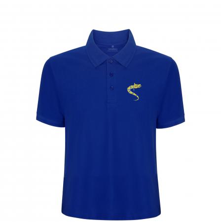 Tricou Lup Dacic, broderie, copii, culoare albastră [0]