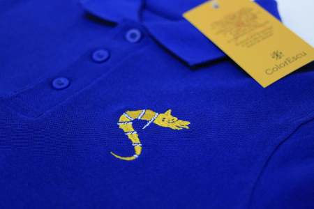Tricou Lup Dacic, broderie, copii, culoare albastră [1]