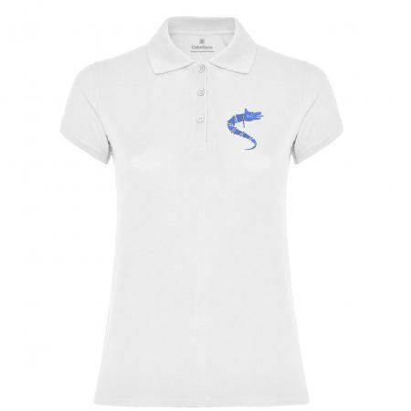 Tricou Lup Dacic, broderie, damă, culoare albă [0]