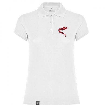 Tricou Lupul Dacic - brodat, damă, alb0
