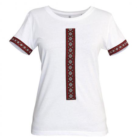 Tricou Motive Țesute - damă, alb0