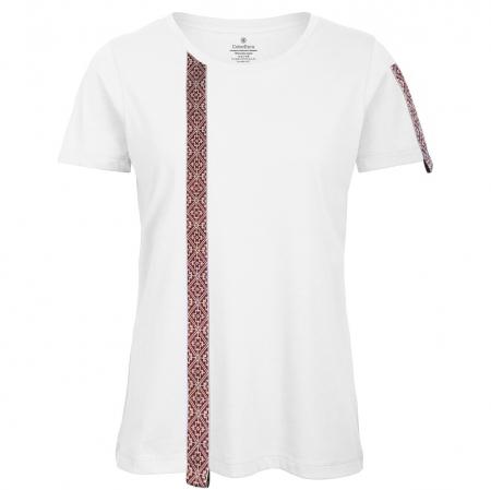 Tricou Motive Țesute, CIR46, damă, culoare albă0