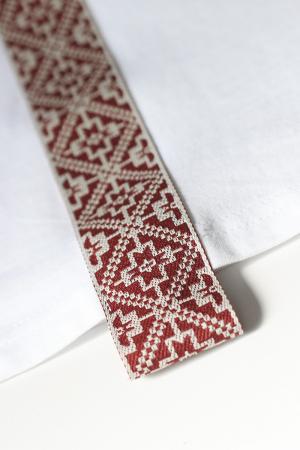 Tricou Motive Țesute, CRP33, bărbat, culoare albă3