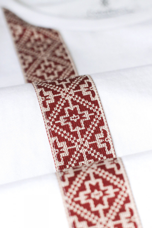 Tricou Motive Țesute, CRP33, bărbat, culoare albă1