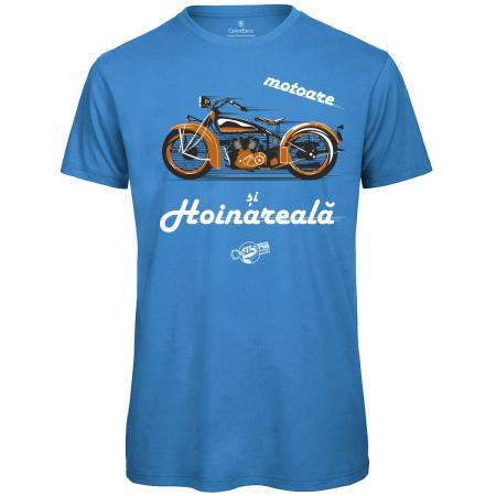 Tricou Motoare și Hoinăreală, culoare albastră0